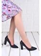 Ayakland Ayakland 137029-311 32 Pullu 8 Cm Topuk Bayan Ayakkabı Siyah